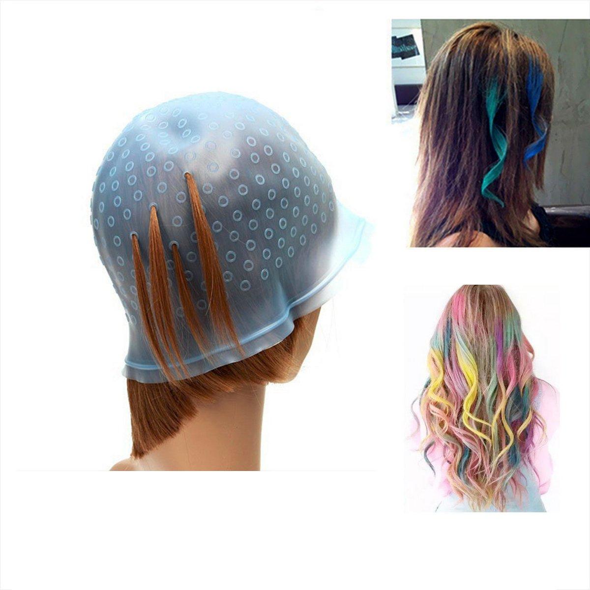 Amazon Pro Salon Dye Silicone Cap With Hook Hair Salon Color