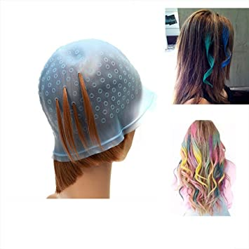 Amazon.com: Pro Salon Dye Silicone Cap with Hook Hair Salon Color ...