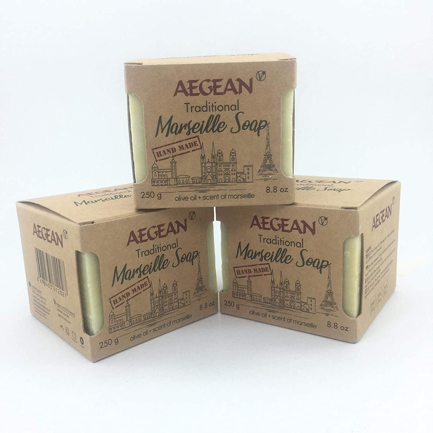 Marseille Soap Bar - Handmade 100% Pure Natural & Vegan