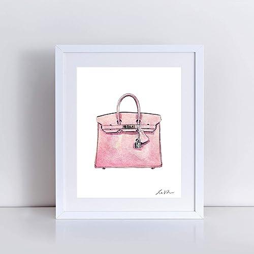 6807fa5695 Hermes Birkin Bag Art Print Watercolor Painting Wall Home Decor Light Pink Hermes  Handbag Fashion Illustration Fashion Art Classic Vintage Preppy Pretty ...