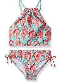 a53d3a10650 Kanu Surf Girls  Daisy Beach Sport Halter Tankini 2-Piece Swimsuit