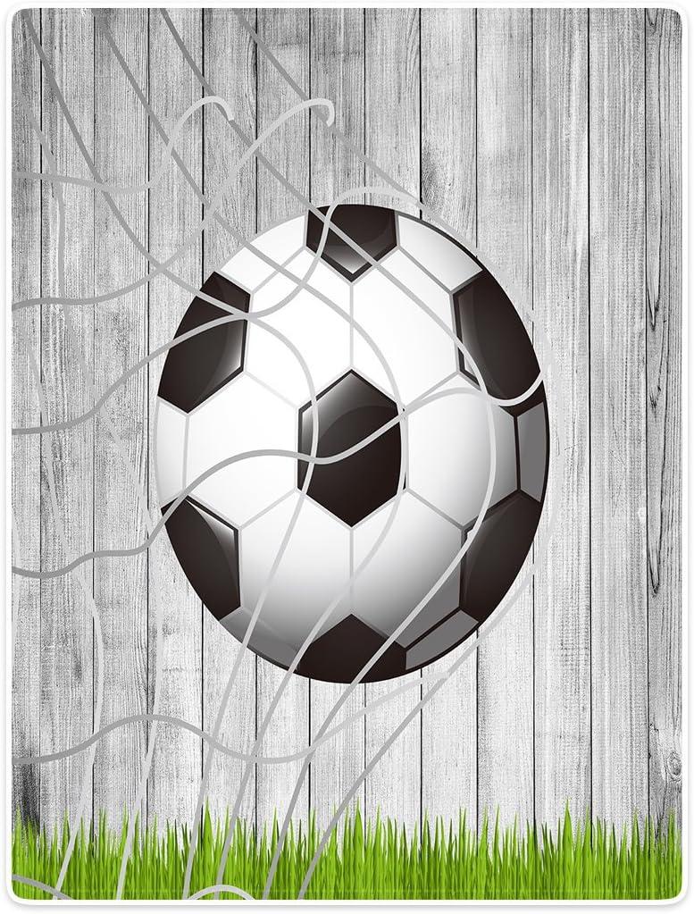 YISUMEI Decke Kuscheldecken Sanft Flanell Weich Fleecedecke Bettüberwurf Fußball Holz Gras Fußballnetz - Bandeja de futbolín (150 x 200 cm): Amazon.es: Hogar