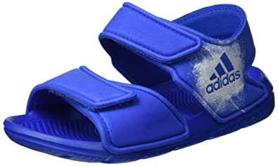 25ef7436c25854 Amazon.com  adidas Altaswim C Blue Synthetic Infant Flat Sandals  Shoes