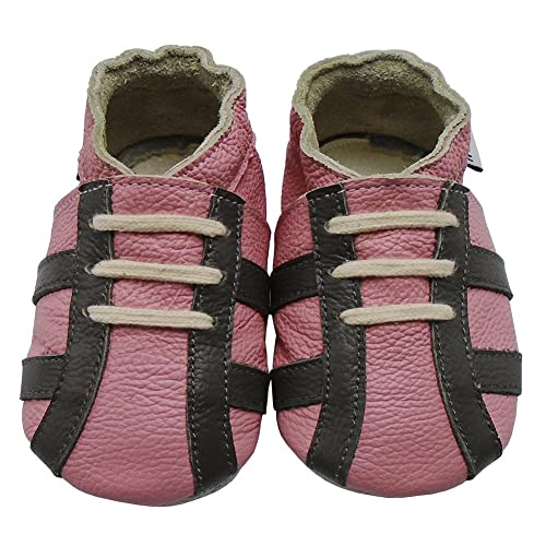 0a8a61a71327e Mejale Baby Girls Premium Soft Sole Leather Moccasins Little One ...