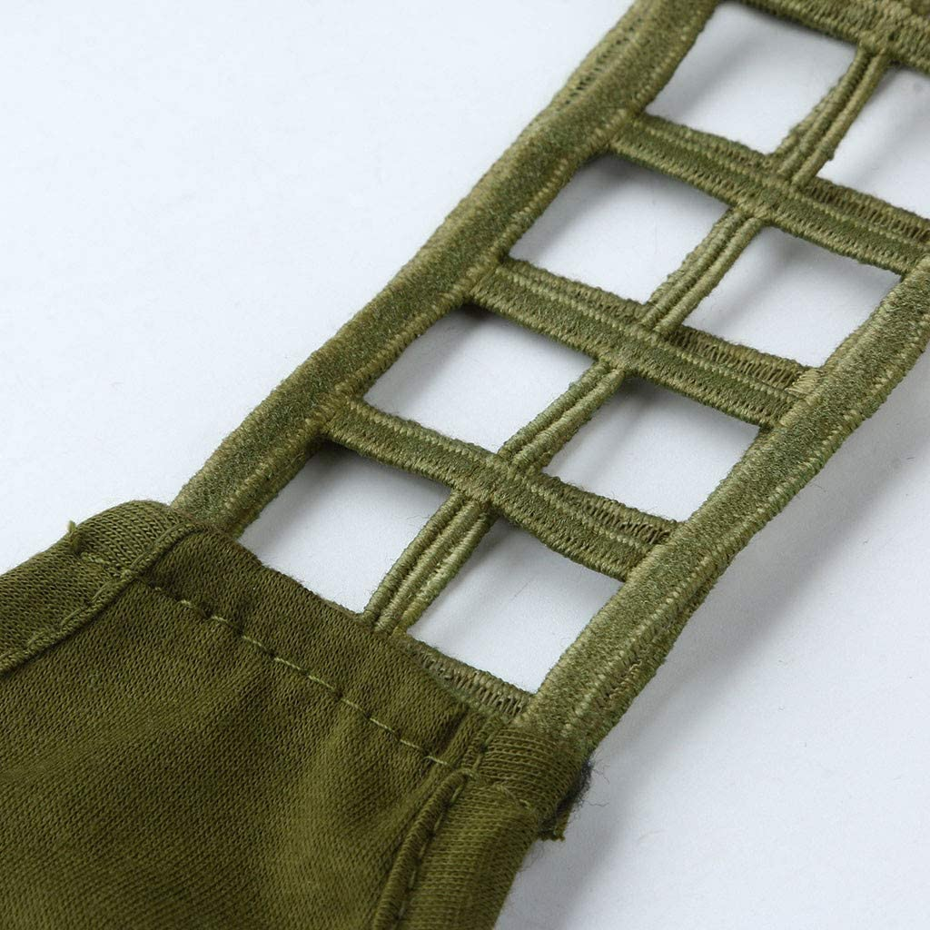 Amlaiworld Womens V Neck Tank Tops Waffle Knit Sleeveless Tunic Casual Pleated Back Loose Shirts