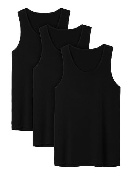 61fa4732aeedb David Archy Men s 3 Pack Bamboo Rayon   Cotton Undershirts Crew Neck Tank  Tops  Amazon.ca  Clothing   Accessories