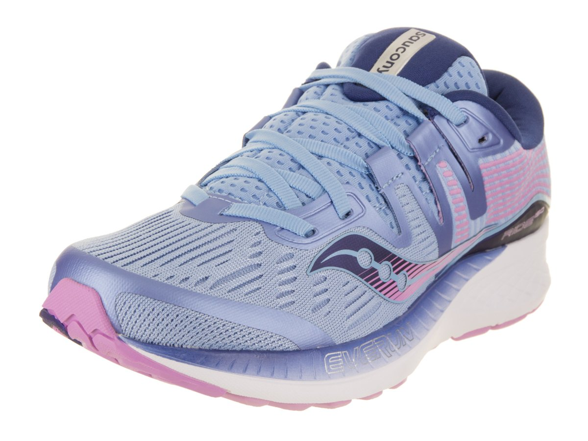 Saucony Women's Ride ISO Running Shoe B078PHDW6V 5.5 B(M) US|Blue/Navy/Purple