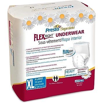 Presto Supreme FlexRight Underwear, X-Large, Pack/14