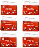MagDepo 6 Pack Credit Card Size Magnifier Ruler Fresnel Lens Fire Starter Compact Plastic Magnifying Glass Wallet Pocket…