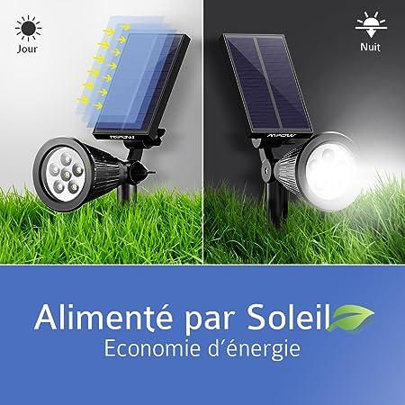 Réglable ExtérieurEclairage Pack6 180° Solaire Mpow2 Spot Etanche Avec Lampe Ip65 Extérieur Panneau Jardin Led uXkiPZ