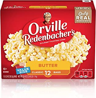 product image for Orville Redenbacher's Butter Popcorn, 3.29 Ounce Classic Bag, 12-Count