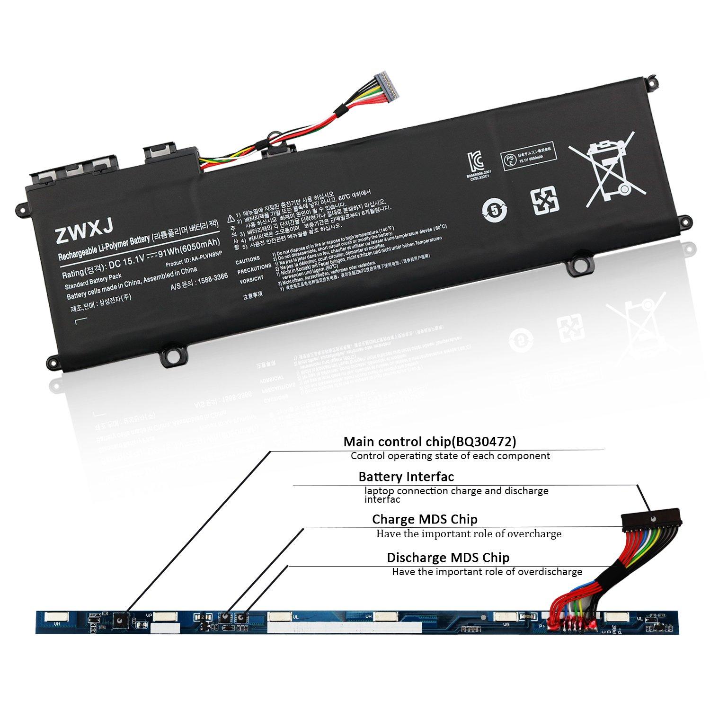 Amazon.com: ZWXJ Laptop Battery AA-PLVN8NP 15.1V 91WH 6050MAH For SAMSUNG  ATIV Book 8 NP770Z5E NP870Z5E NP880Z5E NP880Z5E-X01 NP880Z5E-X02NL  NP880Z5E-X03CA ...