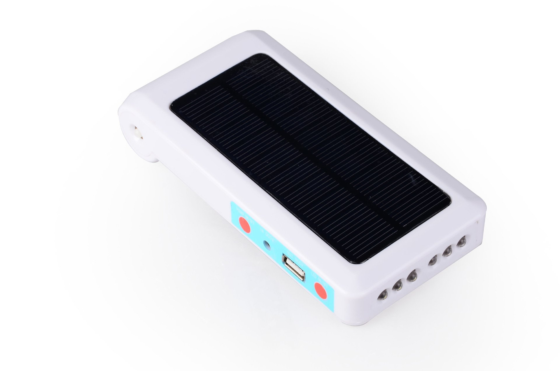 RONSHIN 6LED Solar-powered USB Charging Portable Practical Oxygen Pump for Outdoor Fishing Fish Tank