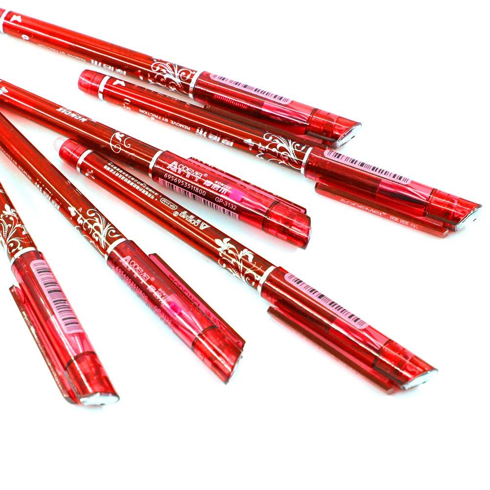 noir//bleu//rouge//bleu fonc/é et 20 recharges d/'encre gel Noir 12 stylos effa/çables Laconile avec mine de 0,5/mm