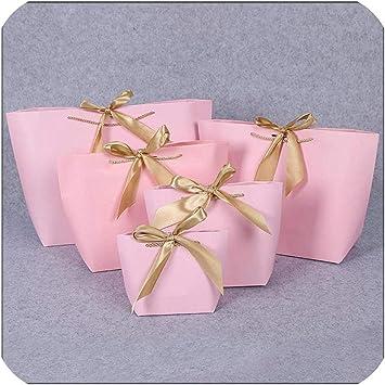 Caja de regalo de papel de tamaño grande, color dorado, bolsa de ...