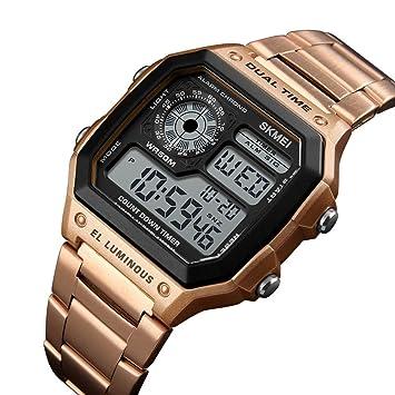 Huang Dog-shop Hombre Deportivos Relojes LED De Analógico Relojes De Pulsera, Resistente Al Agua Digital Militares Relojes con Cuenta Atrás/Temporizador ...
