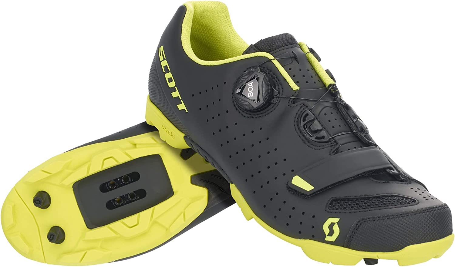 Scott MTB Comp Boa 2020 - Zapatillas de ciclismo, color negro y amarillo