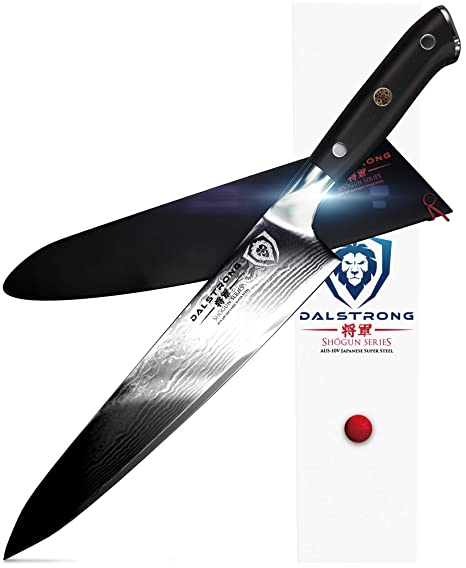 DALSTRONG Chef Knife - Shogun Series Gyuto - Damascus - Japanese AUS-10V Super Steel - Vacuum Heat Treated - 9.5