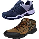 Earton Men Combo Pack of 2 Sports Shoe with Casual Shoe