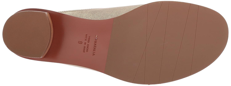 Aquatalia Women's Raven Metallic Leather Mule B074XJGVXN 8 M M US|Gold