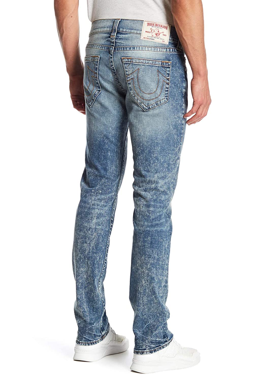 b923b9c34 Amazon.com  True Religion Men s Skinny Red Orange Stitch Jeans In Mountain  Face  Clothing