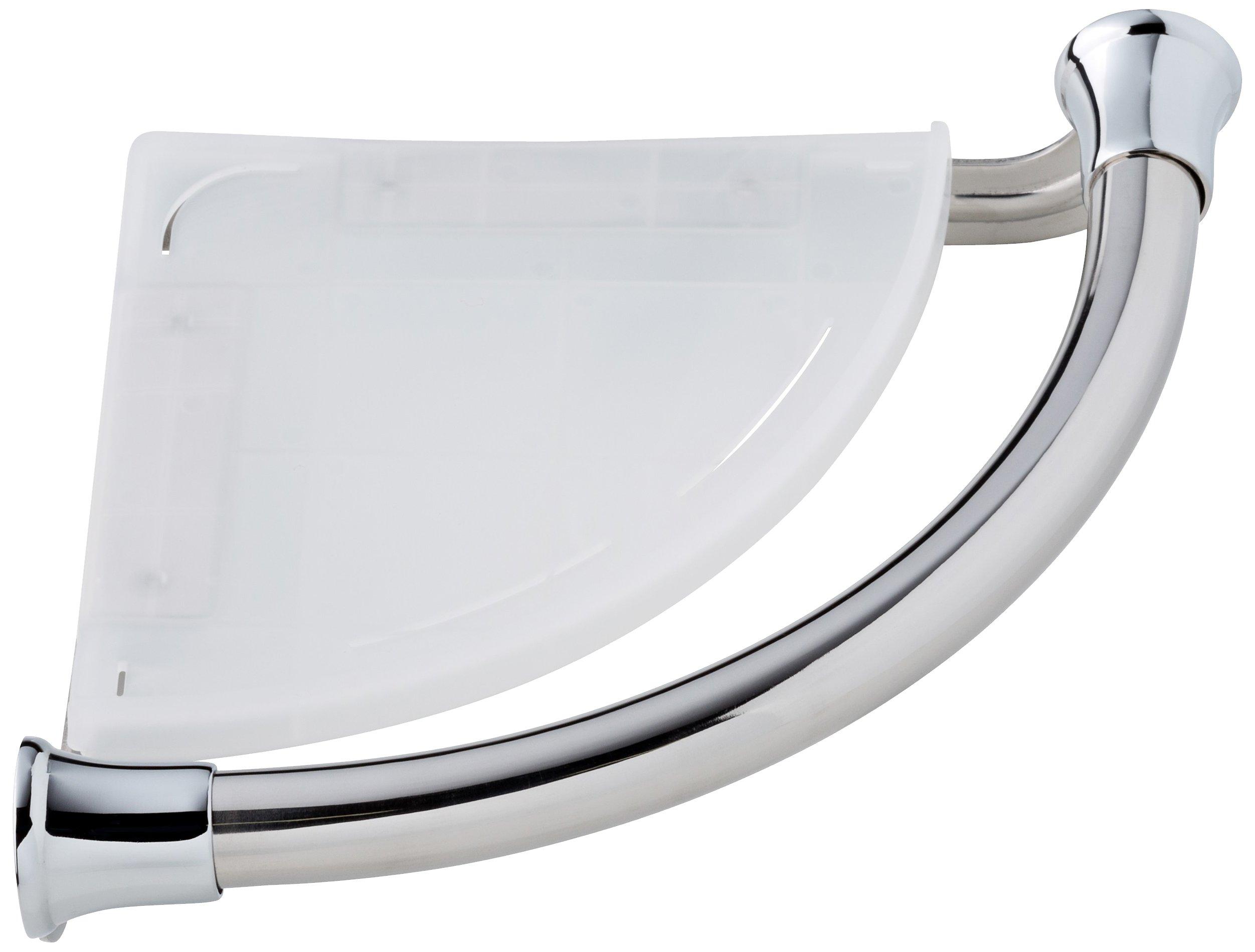Delta Faucet 41316 Transitional Corner Shelf / Assist Bar, Polished Chrome