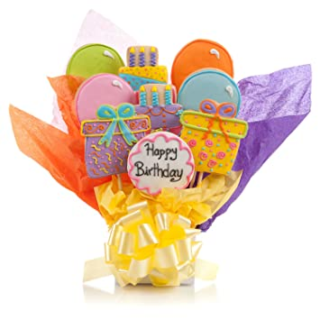 Amazoncom Happy Birthday Cookie Bouquet 9 Pc Bouquet