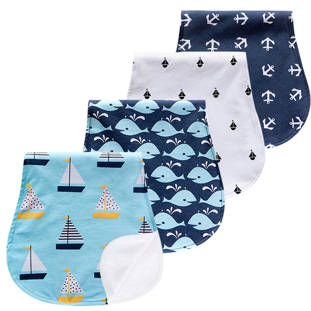 Aeeker Burp Cloths Set Baby Burp Cloth for Boys Girls Layer Towels Burping Rags Pads for Newborns, Baby Shower/Registry Gift