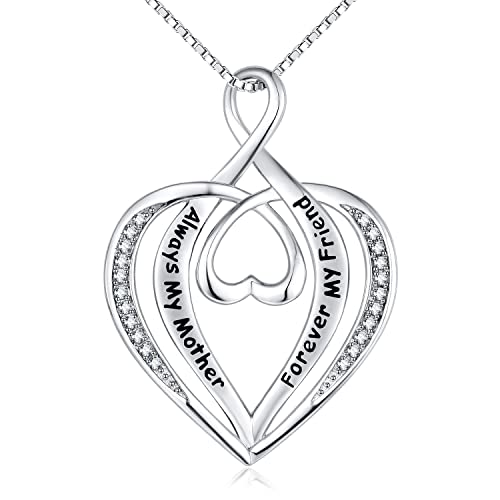 Amazon nummy always my mother forever my friend engraved nummy always my mother forever my friend engraved pendant necklace for women 18quot adjustable aloadofball Images