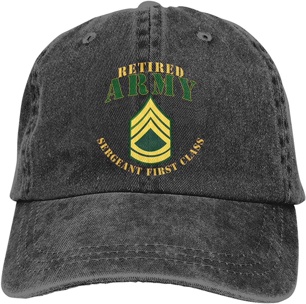 Army SFC Retired Dad Hat Denim Baseball Cap Adjustable Polo Trucker Unisex Style Headwear