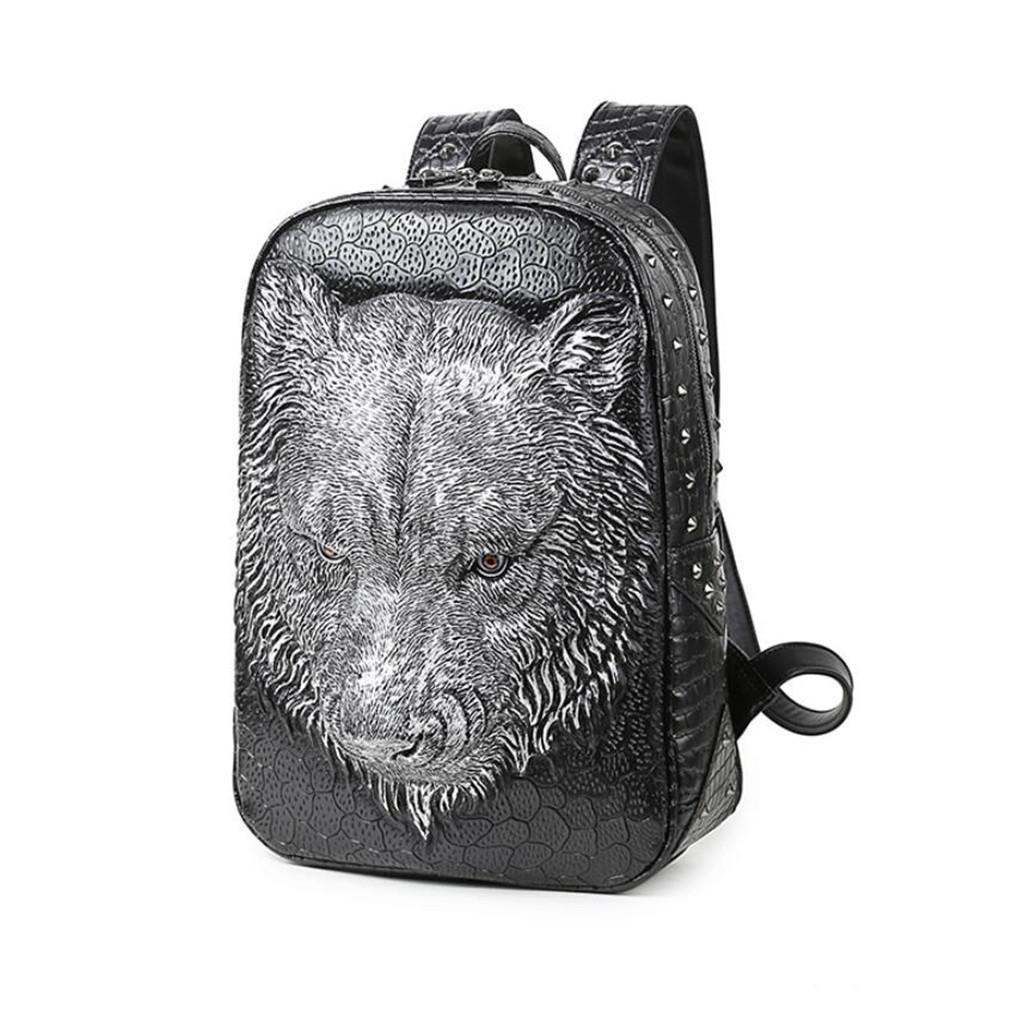 BEIBAO 3D Tiger Kopf PU Doppel Umhängetasche Lady Tier Handtasche Outdoor Reisen Computer Tasche, Shopping