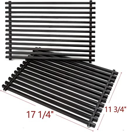 Amazon Com Shienstar 7525 Porcelain Enameled Grill Grates For Weber Spirit 300 Series Genesis Silver B Gas Grills 17 1 4 Cooking Grids Replacement Parts Set Of 2 Garden Outdoor