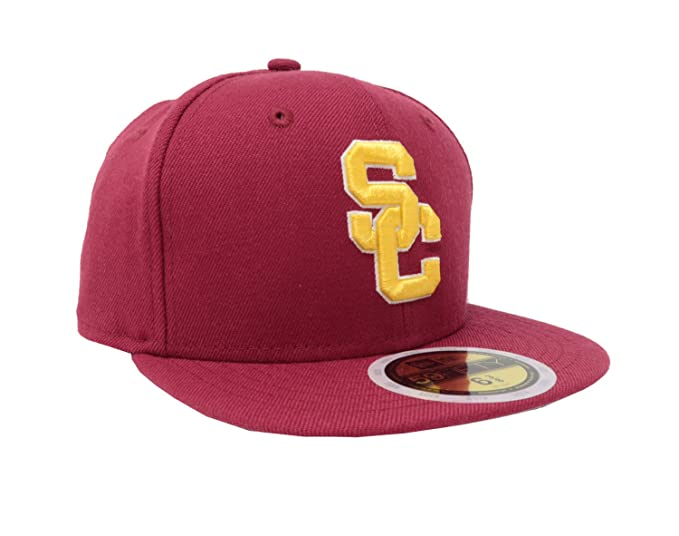 New Era 59Fifty Hat Kid s Trojans USC College Football Cardinal Red 2016  Classic Cap (6 e340c77661f3