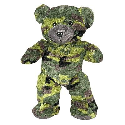 Cuddly Soft 8 inch Stuffed Camo Teddy Bear - We Stuff 'em...You Love 'em!: Toys & Games