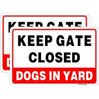 Joffreg Keep Gate Closed,Dogs in Yard Sign,Dog Warning Sign,UV Protected and Weatherproof,Indoor Or Outdoor Use,20 x 30…