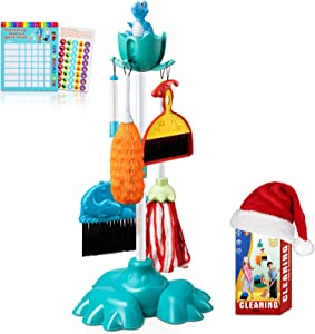 BROADREAM Kids Cleaning Set, Kids Broom Set for 3 4 5 6 Years Old Boys and Girls, Kid-Sized Cleaning Toys Christmas Stocking Stuffers Birthday Gifts for Toddlers & Preschoolers