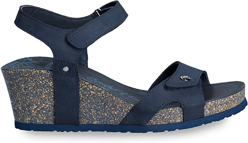 panama jack damen julia basics offene sandalen mit keilabsatz