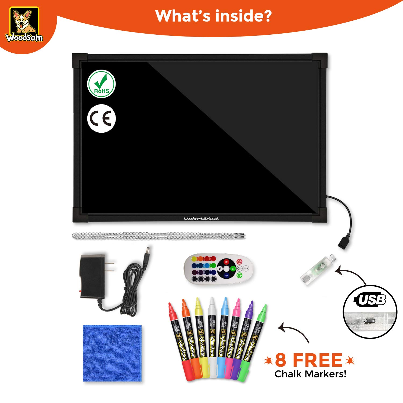 Pleasant Amazon Com Woodsam Led Drawing Painting Board 24 X 16 Erasable Wiring Cloud Peadfoxcilixyz