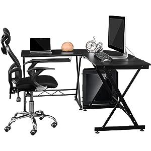 Homfa Soporte para Portátil Mesa para Ordenador de Base Ajustable y Plegable con Soporte para Ratón