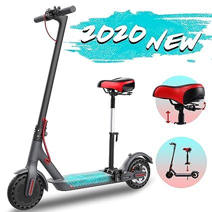 GeekMe Scooter eléctrico con asiento desmontable Scooter eléctrico urbano de 8,5 pulgadas 25 km / h | Scooter plegable con pantalla LCD | Batería de ...