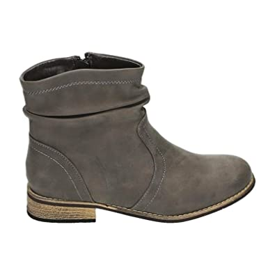 wholesale dealer 44535 192e0 King of Shoes Damen Stiefeletten Cowboy Boots mit Blockabsatz Western