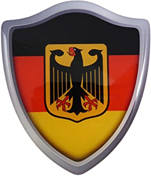 Germany German Flag Domed Decal Emblem Resin car stickers 5x 0.82 2pc Car Chrome Decals