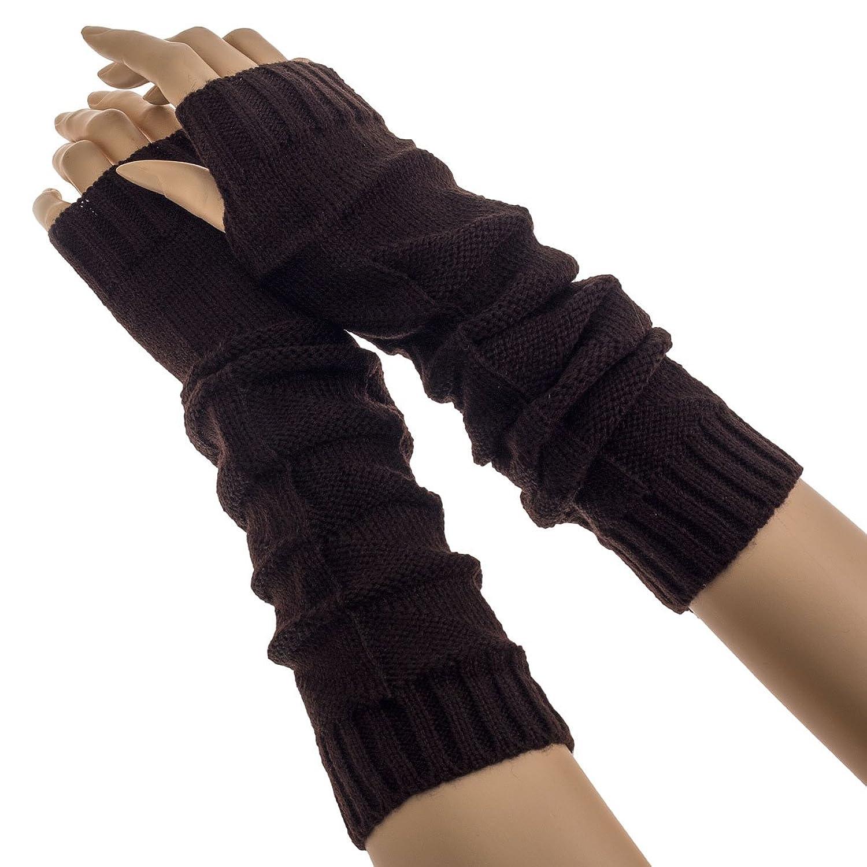 Oramics gestrickte fingerlose Armstulpen aus Baumwolle