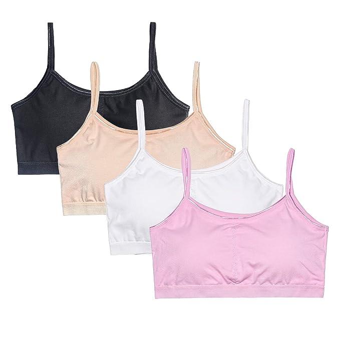 VeaRin Big Girls' Cotton Training Bra with Padding,Starter Bras for Girls