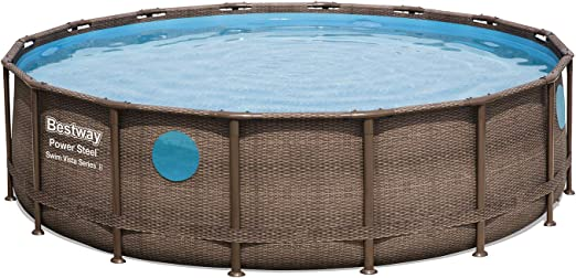 Bestway 56725 - Piscina Desmontable Tubular Power Steel 488x122 cm ...
