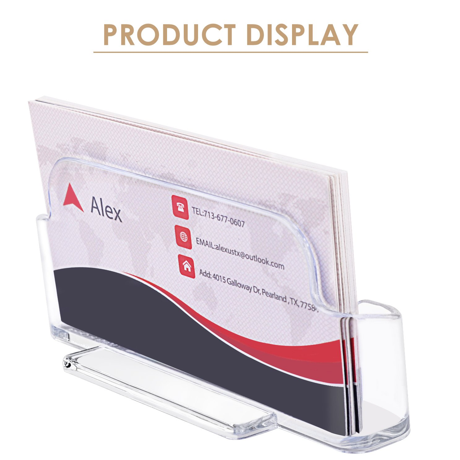 MaxGear Clear Acrylic Business Card Holder Display Office Business ...