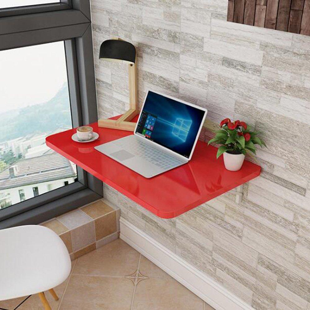 XIAOLIN ベークドペイントウォールマウント折りたたみテーブルダイニングテーブルウォールテーブルコンピュータのデスクブックテーブルオプションの色、サイズ (色 : 赤, サイズ さいず : 120*40cm) B07DWLLL1B 120*40cm|赤 赤 120*40cm