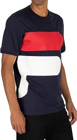 Fila de los Hombres Camiseta Alvan, Blanco