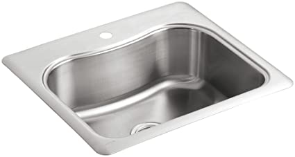 KOHLER K 3362 1 NA Staccato Single Basin Self Rimming Kitchen