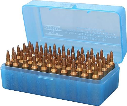 MTM 50 ROUND Fucile Munizioni Box RSS-50 Shooting Pistola Outdoor Caccia Munizioni PF